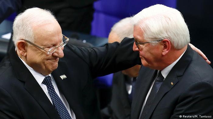 Deutschland Steinmeier und Rivlin im Bundestag NEU