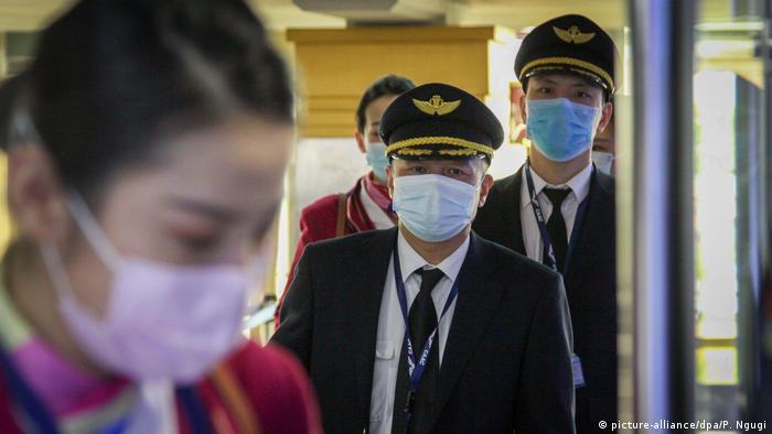 Kenia Cremitglieder der China Southern Airlines | Corona-Virus