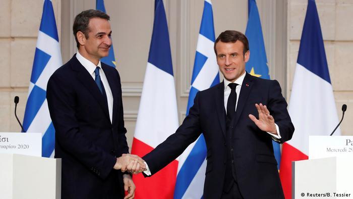 Frankreich Kyriakos Mitsotakis und Emmanuel Macron