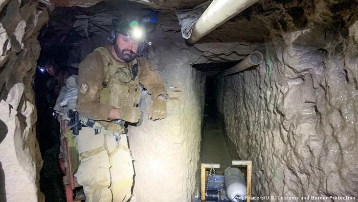 Geheimtunnel zwischen Mexico und USA entdeckt