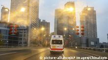 China leere Straßen in Wuhan wegen Coronavirus