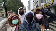 Freundinnen in Wuhan, dem Zentrum des Corona-Virus-Ausbruchs