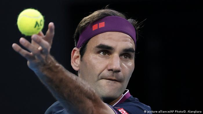 Rodžer Federer tokom meča protiv Đokovića