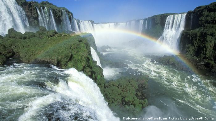 Argentina - Iguazu-Waterfalls (picture-alliance/Mary Evans Picture Library/Ardea/F. Gohier)