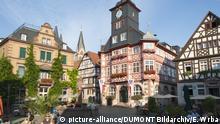 Deutschland Marktplatz in Heppenheim