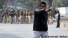 Indien Proteste gegen Einwanderungsgesetz in Neu Delhi