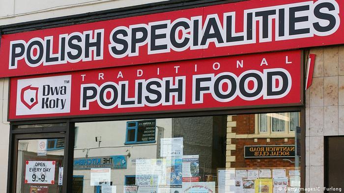 polnische Läden in Großbritannien