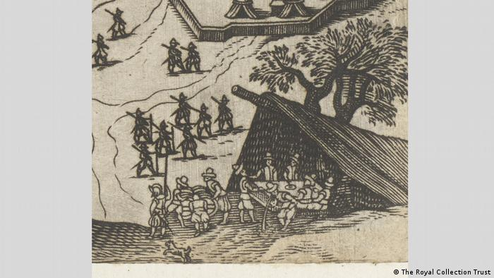 A print depicting the Siege of Rochelle