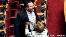 Griechenland Athen   Ionnis Lagos während Parteisitzung