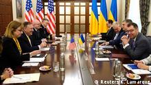 Ukraine Kiew Außenminier Mike Pompeo und Wadym Prystajko