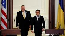 Mike Pompeo mit Volodymyr Zelensky