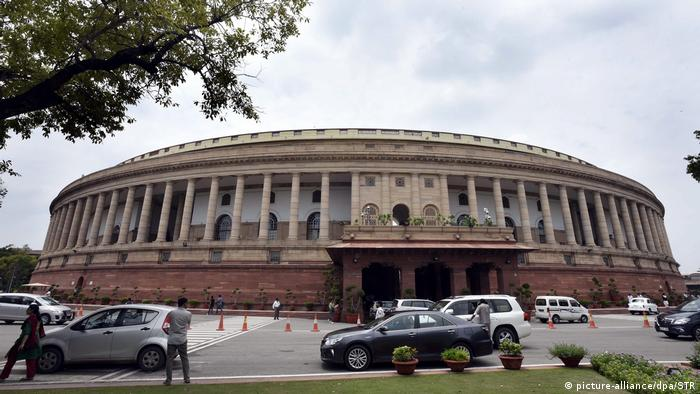 A view Parliament House building in New Delhi,India, 02 August 2016