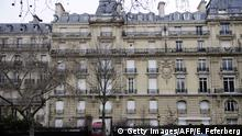 14.02.2012 A picture taken on February 14, 2012 on the Avenue Foch in Paris shows a truck at the entrance of Paris residence of Teodorin Obiang Mangue, the son of Equatorial Guinea's President Teodoro Obiang, being searched by French police as part of a corruption probe. The president's son, Teodorin Obiang Mangue, was reportedly absent during the search by anti-graft police who were met with some resistance from occupants who claimed the building was protected by diplomatic immunity. AFP PHOTO ERIC FEFERBERG / AFP / ERIC FEFERBERG (Photo credit should read ERIC FEFERBERG/AFP via Getty Images)