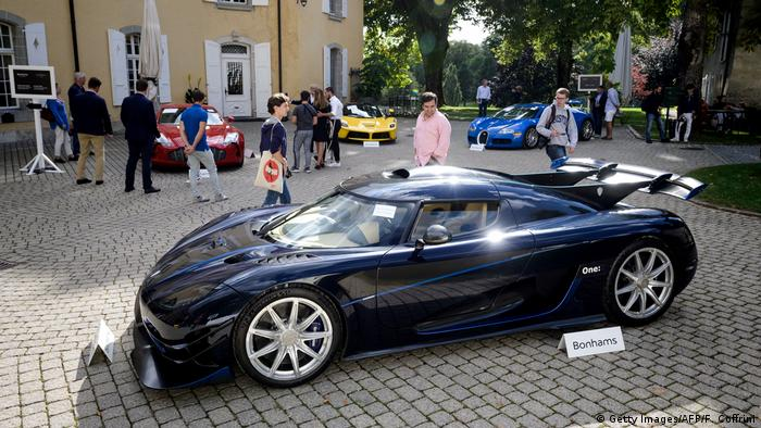 2015 Koenigsegg One seized from Teodorin Obiang (Getty Images/AFP/F. Coffrini)