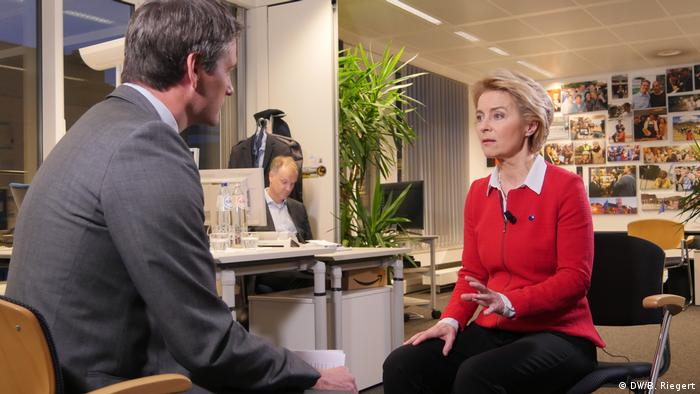 Belgien Brüssel   DW Interview: Max Hofmann im Gespräch mit Ursula von der Leyen