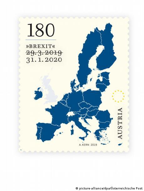 Österreichische Post Sonderbriefmarke zum Brexit