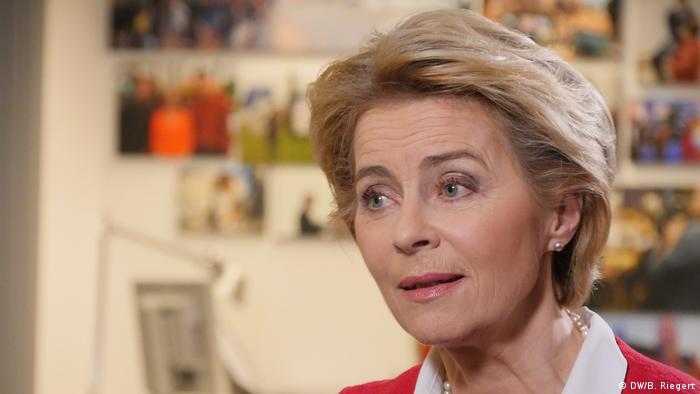 Belgien Brüssel   DW Interview: Max Hofmann im Gespräch mit Ursula von der Leyen (DW/B. Riegert)