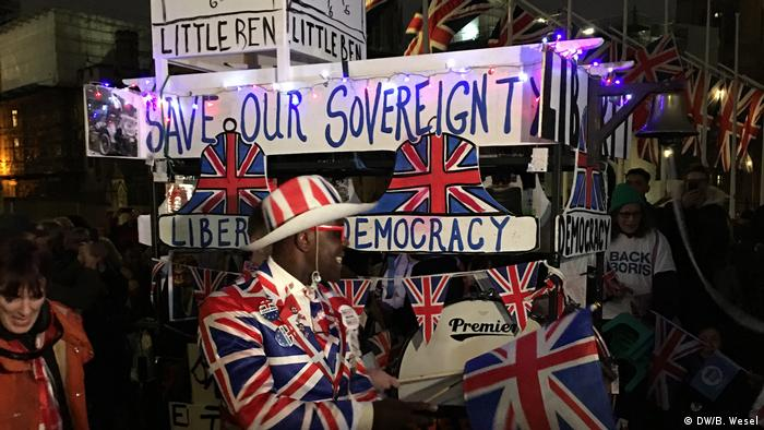 Pro-Brexit demonstration, London
