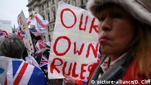 England, London: Feiern am Tag des Brexits (picture-alliance/D. Cliff)