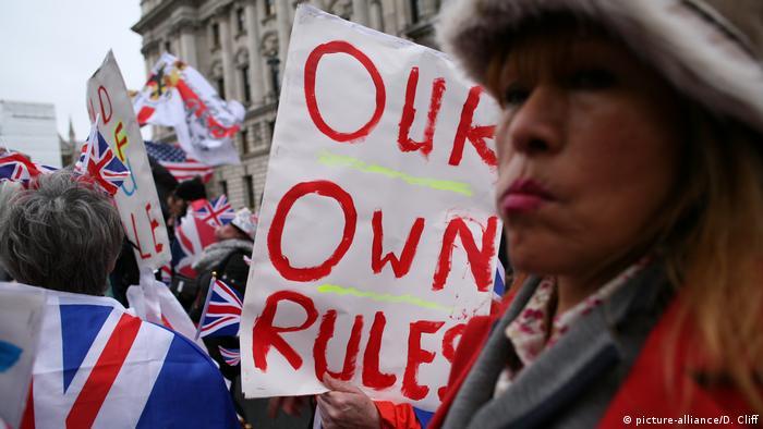 England, London: Feiern am Tag des Brexits