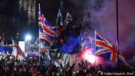 England, London: Feiern am Tag des Brexits (Getty Images/L. Neal)