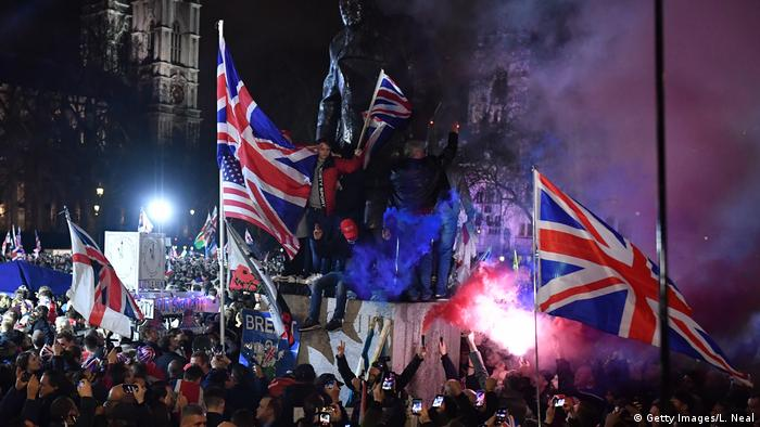 England, London: Feiern am Tag des Brexits (Getty Images/L. Neal)