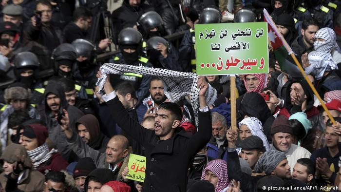 Proteste gegen Trump in Jordanien