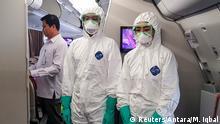 Indonesien Soekarno Hatta International Airport Vorbereitungen zur Evakuierung aus Wuhan