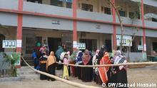 01.02.2020 *** (c) Sazzad Hossain. Dhaka city election. Voter line up for casting vote.