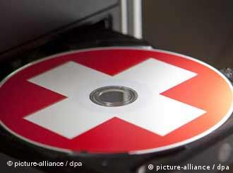 Компакт-диск с эмблемой швейцарского флага