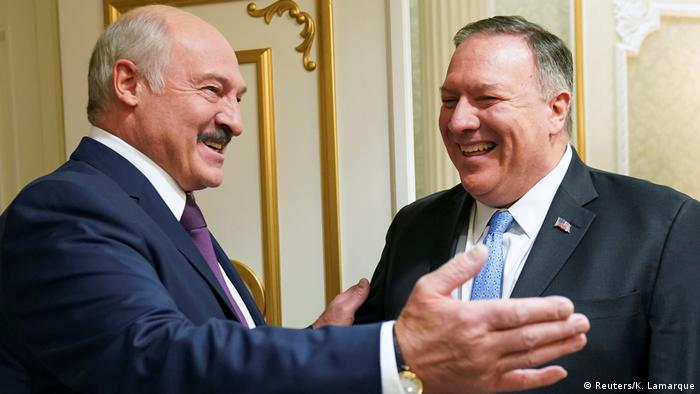 US Secretary of State Mike Pompeo (L.) meets with President Alexander Lukashenko