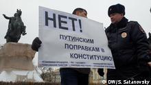 Russland | Protestaktion in St. Petersburg gegen die Verfassungsreform in Russland