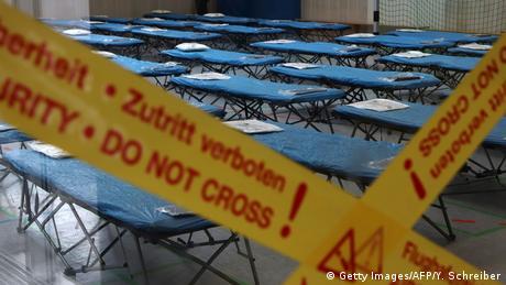 Zona de cuarentena para los infectados con el coronavirus, en Fráncfort, Alemania.