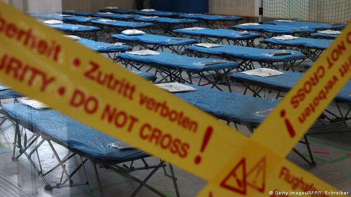 Frankfurt Flughafen Quarantänehalle für Corona-Evakuierte