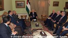 Ägypten Kairo Treffen Arabische Liga | Mahmud Abbas, Präsident der Palästinenser & Abo Al Gheit