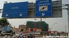 Angloa Luanda Straße zum International Airport