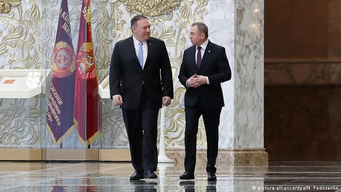 Mike Pompeo and Vladimir Makei (picture-alliance/dpa/N. Fedosenko)