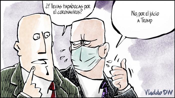 Karikatur von Vladdo Mal presentimiento