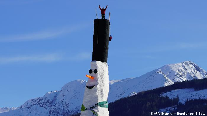 a close up of the snowman
