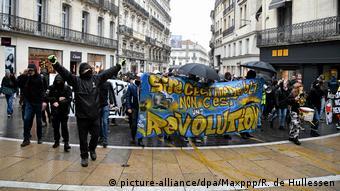 Протест против пенсионной реформы во Франции 1 февраля 2020 года