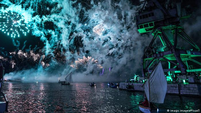 BdTD Bild des Tages Deutsch | Eröffnung Europäische Kulturhauptstadt Rijeka (imago images/Pixsell)