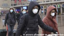 People wearing masks are seen near Beijing Station in Beijing, China on February 2, 2020, amid a growing concern to spread a new type of coronavirus reportedly through a person to person transmission. The number of the patients who have been infected with a new coronavirus has reached to 11,860 and the death toll has been confirmed over 259 so far as of February 1st in China. As the outbreak continues to spread outside China, the World Health Organization declared the new coronavirus a Global Health Emergency on Jan 31st. ( The Yomiuri Shimbun via AP Images ) |