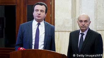 Kosovo Regierungsbildung Albin Kurti und Isa Mustafa (Getty Images/AFP)