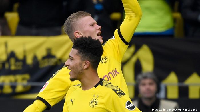Fußball Bundesliga Borussia Dortmund - Union Berlin Erling Haaland und Jadon Sancho