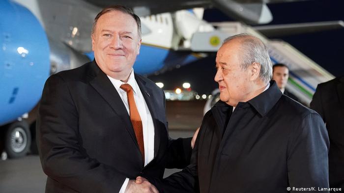 Госсекретарь США Майкл Помпео и глава МИД Узбекистана Абдулазиз Камилов