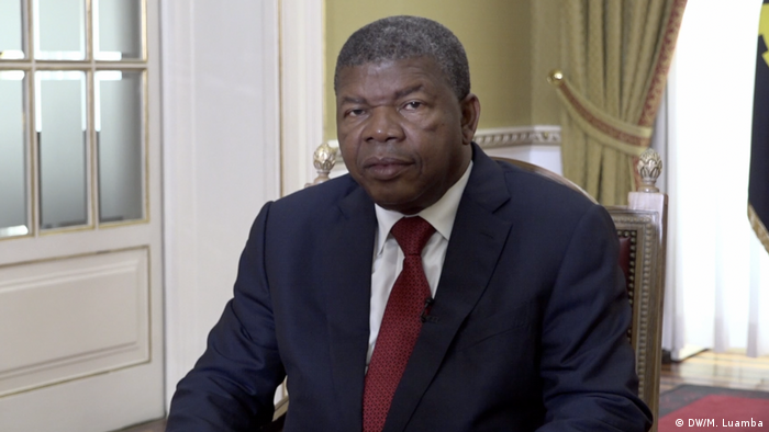 Joao Lourenco, the president of Angola, at an interview with DW