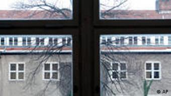 View through the window of the Jesuit Canisius school in Berlin, supposedly a site of child abuse by priests
