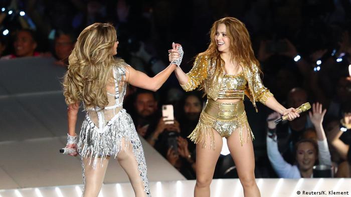 Super Bowl LIV Halftime Show - J. Lo und Shakira (Reuters/K. Klement)