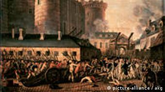 The storming of the Bastille 1789