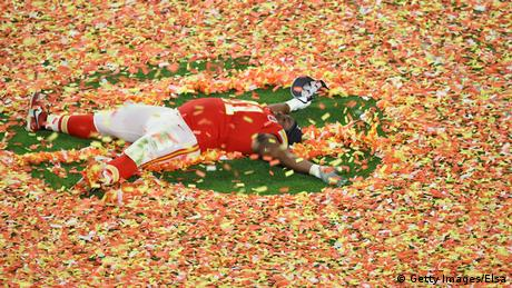 Derrick Nnadi #91 of the Kansas City Chiefs celebrates after defeating the San Francisco 49ers 31-20 in Super Bowl LIV